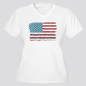 Blessed Nation Plus Size T-Shirt