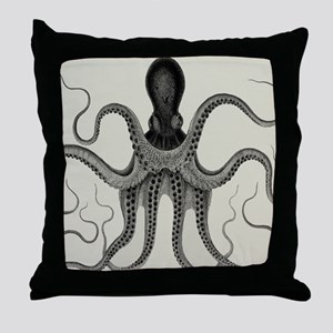 Vintage Octopus Design Throw Pillow