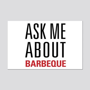 Barbeque - Ask Me About Mini Poster Print