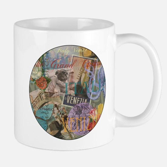 Venice Vintage Trendy Italy Travel Collage Mugs