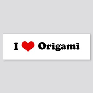 I Love Origami Bumper Sticker