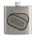 Vietnam Dog Tags Flask
