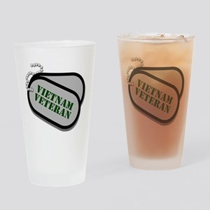 Vietnam Dog Tags Drinking Glass