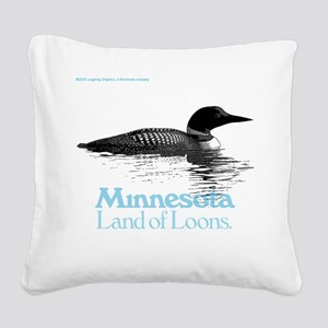 More Loons Square Canvas Pillow