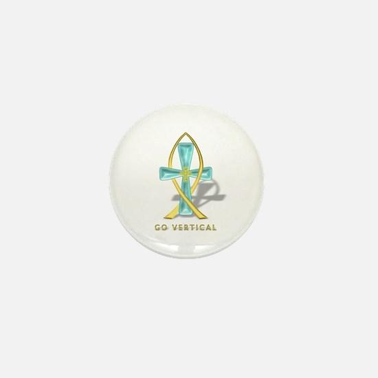 Crystal Cross Mini Button