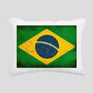 Brazil Flag Rectangular Canvas Pillow