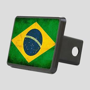 Brazil Flag Rectangular Hitch Cover
