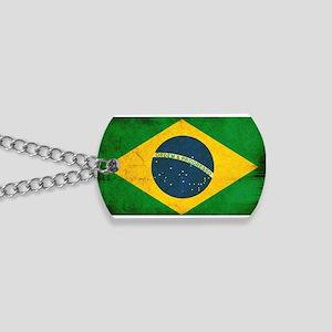 Brazil Flag Dog Tags
