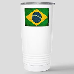 Brazil Flag Stainless Steel Travel Mug
