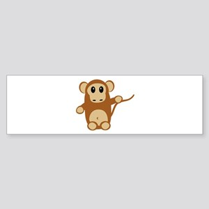 Monkey Face Bumper Sticker
