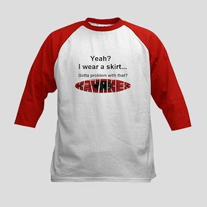 I wear a skirt Kids Baseball Jersey