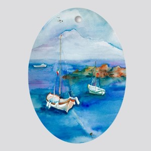 Bay of Naples Oval Ornament