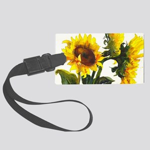 Here Comes the Sun! Large Luggage Tag