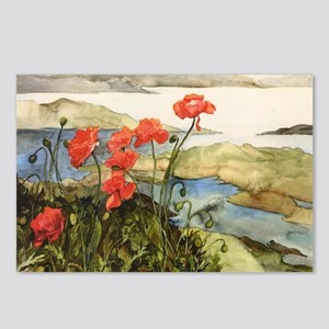 Poppies View Postcards (Package of 8)