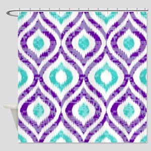purple and teal shower curtain. PURPLE AND TEAL IKAT 2 COPY Shower Curtain Purple Teal Curtains  CafePress
