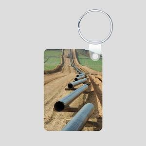 pipeline Aluminum Photo Keychain