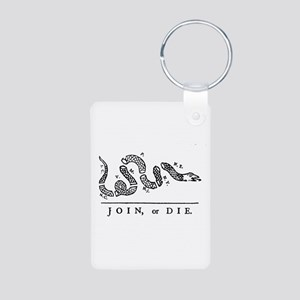 Join or Die Aluminum Photo Keychain