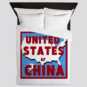 United States of China Queen Duvet