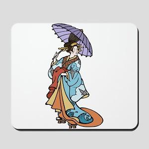 Geisha With Parasol Mousepad