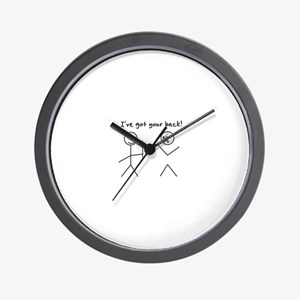 I've Got You Back Wall Clock