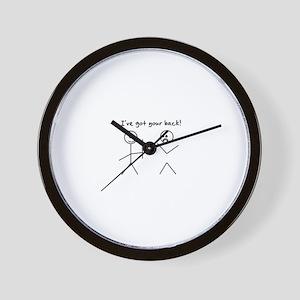 I've Got You Back Wall Clock