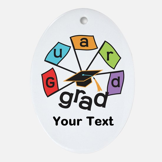 Customize Guard Grad Flags Oval Ornament