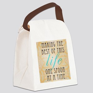 One Spoon At A time Canvas Lunch Bag