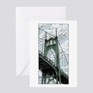 St. Johns Bridge Greeting Cards