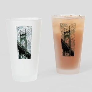 St. Johns Bridge Drinking Glass