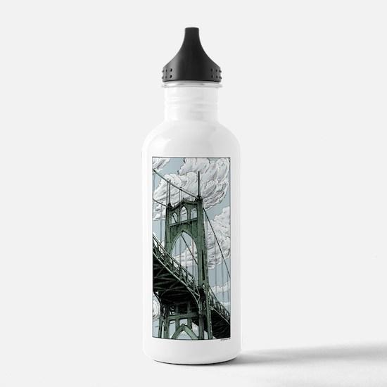 St. Johns Bridge Water Bottle