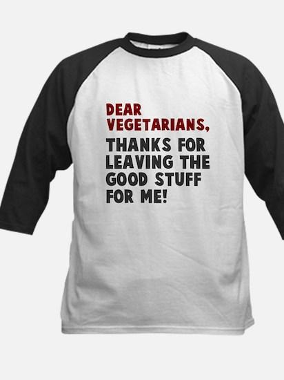Dear Vegetarians Baseball Jersey