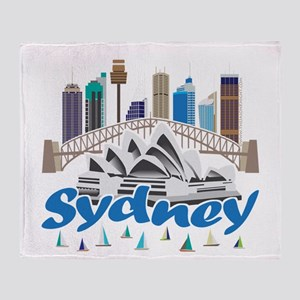 Sydney Skyline Throw Blanket