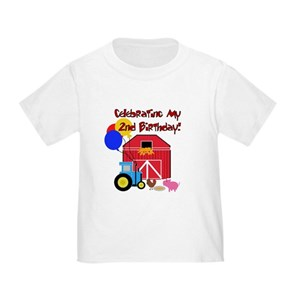 Tractor Birthday Toddler T Shirts