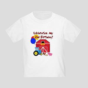 Farm 2nd Birthday Toddler T Shirt