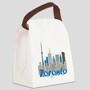 Toronto Skyline Canvas Lunch Bag