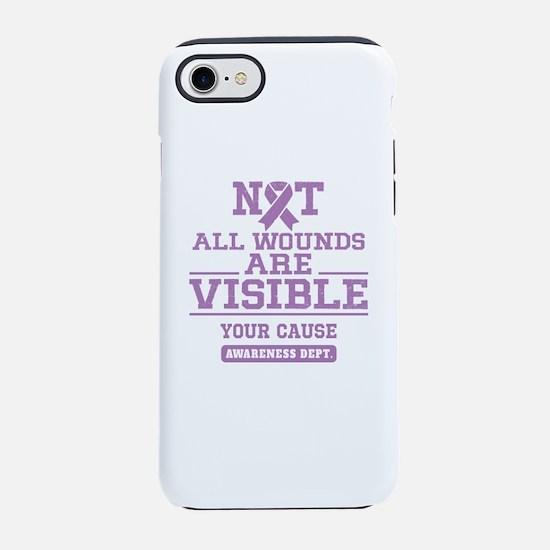 Purple Awareness iPhone 7 Tough Case