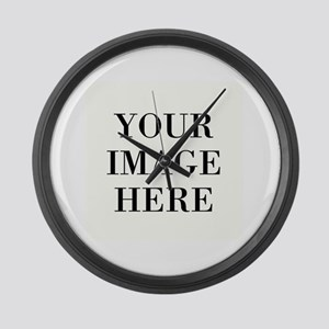 Your Photo Here by Leslie Harlow Large Wall Clock