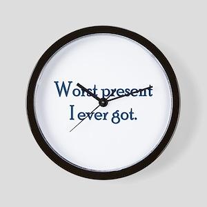 Worst Present Wall Clock