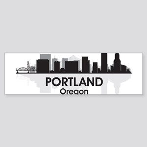 Portland Skyline Bumper Sticker