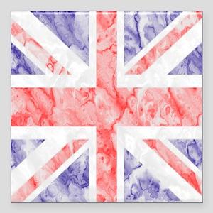 "Union Jack Flag Square Car Magnet 3"" x 3"""