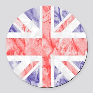 Union Jack Flag Round Car Magnet