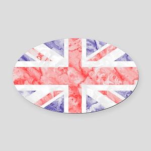 Union Jack Flag Oval Car Magnet