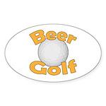Beer Golf Sticker (Oval 10 pk)