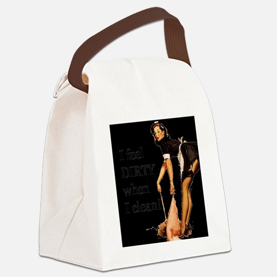 Naughty French Maid Canvas Lunch Bag