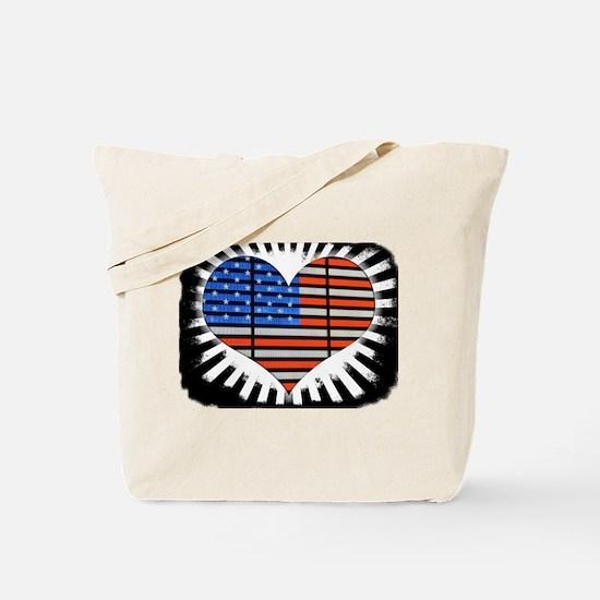 We Love America Rustic Edges Tote Bag