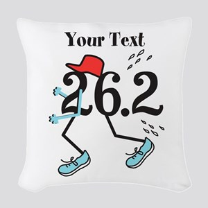 Personalized Runner 26.2 Woven Throw Pillow
