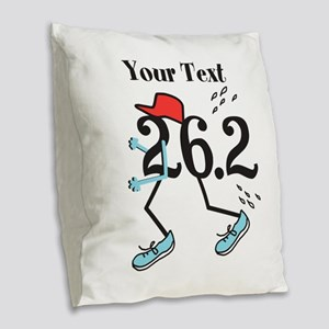 Customize Funny 26.2 Burlap Throw Pillow