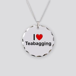 Teabagging Necklace Circle Charm