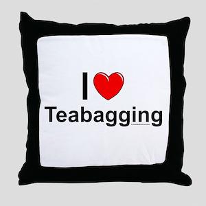 Teabagging Throw Pillow