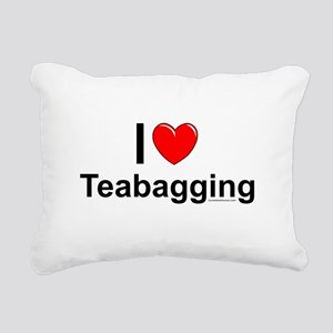 Teabagging Rectangular Canvas Pillow